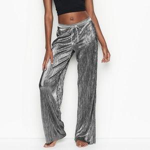 Victoria's Secret Pleated Silver Lounge PJ Pants